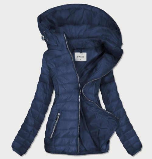 Dámska dlhšia prešívaná bunda s odnímateľnou kapucňou