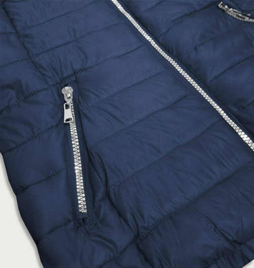 Dámska tmavo modrá zimná bunda