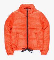 Oranžová vatovaná prešívaná detská bunda