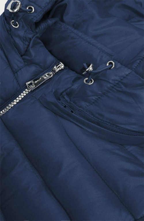 Štýlová bunda v predĺženej dĺžke s kapucňou