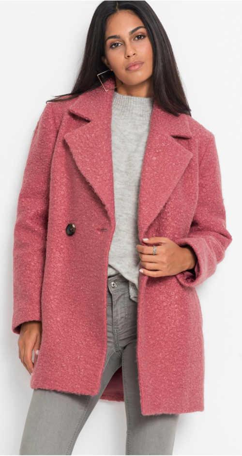 Vlnený dámsky zimný kabát kratšej dĺžky