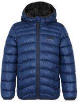 Detská prešívaná zimná bunda s integrovanou kapucňou