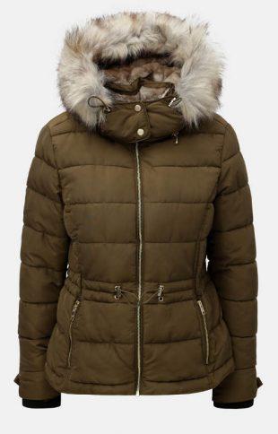 Hnedá prešívaná dámska zimná bunda ONLY Vigga