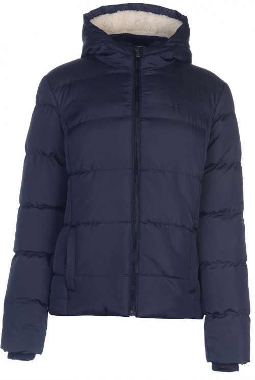 Modrá dámska zimná bunda s veľkou zľavou