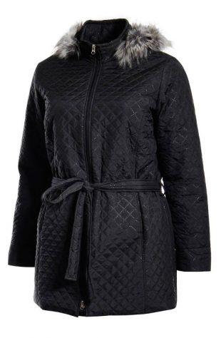 Zateplený dámsky kabát nadmerných veľkostí