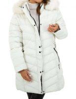 Dámska prešívaná bunda v predĺženej dĺžke s kapucňou