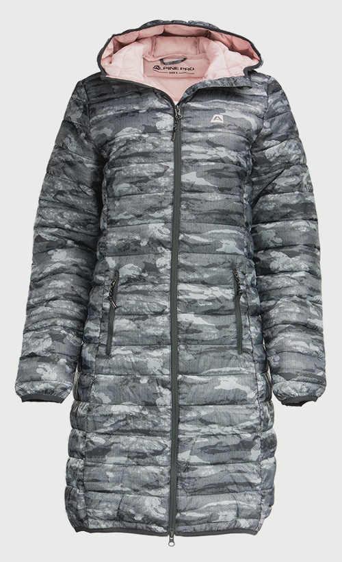 Dámsky prešívaný zimný kabát Alpine Pro s kapucňou