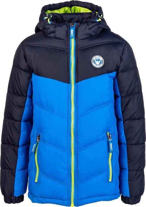 Detská kvalitná prešívaná bunda s kapucňou nielen na lyžovanie