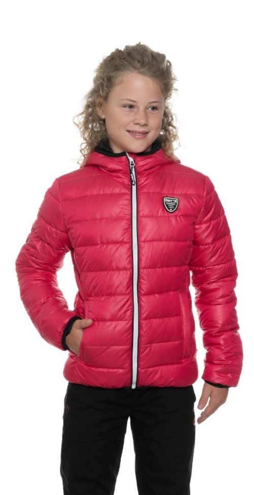 Prešívaná zimná bunda pre dievčatá s kapucňou v módnych farbách