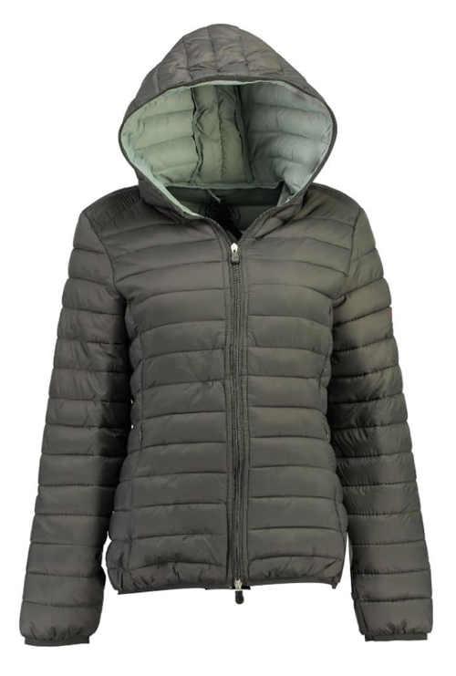Šedá chlapčenská nórska prešívaná zimná bunda