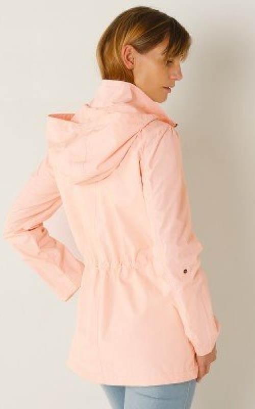 Svetlo marhuľová dámska bunda s kapucňou