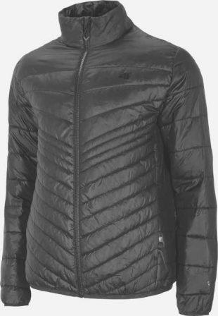 Ultraľahká pánska páperová bunda v čiernej farbe