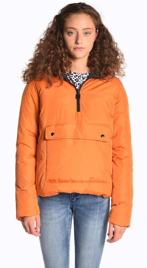 Bavlnená bunda v oranžovej alebo hnedej farbe