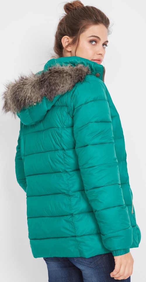 Dámska zimná bunda v jasne zelenej farbe
