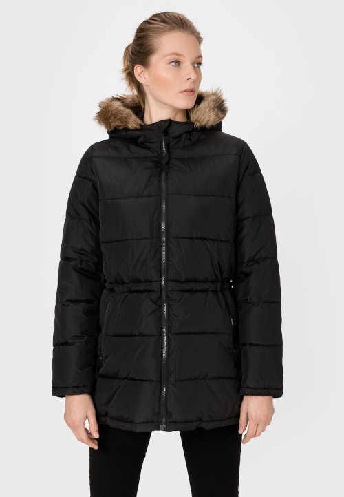 Moderná dámska bunda GAP s kapucňou a šnúrkou v páse