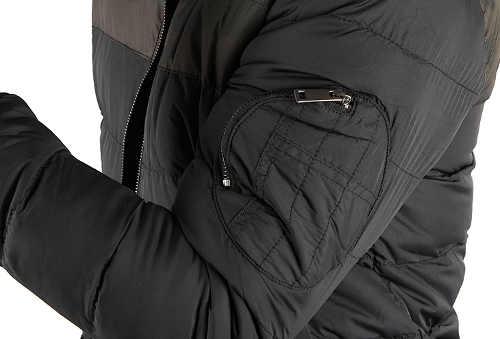 Pánska zimná bunda s vreckom na rukáve
