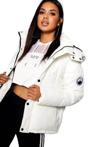 Biela športová zimná bunda pre ženy