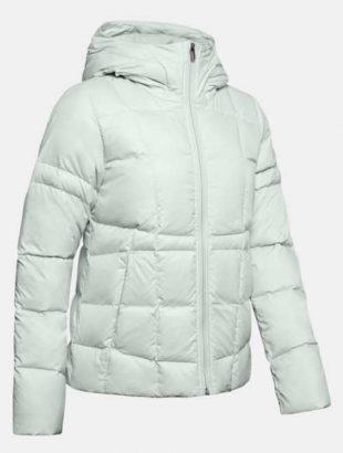Biela zimná bunda s kačacím perím