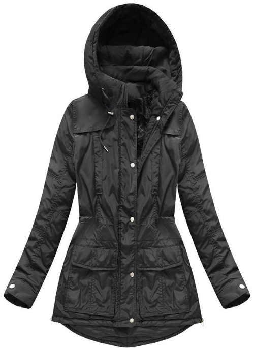 Dámska moderná zimná bunda v lichotivom strihu