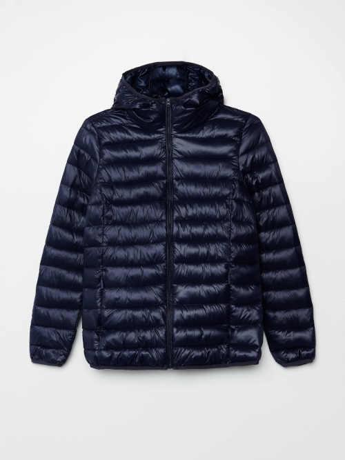 Modrá krátka dámska bunda