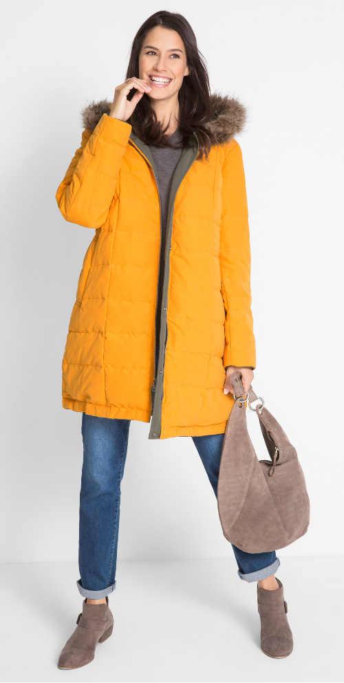 Obojstranná dámska bunda v módnych farbách