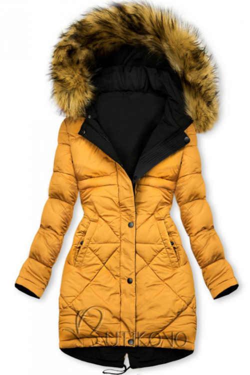 Dámska zimná bunda v predĺženej dĺžke