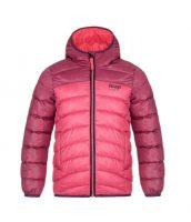 Detská zimná prešívaná bunda s integrovanou kapucňou
