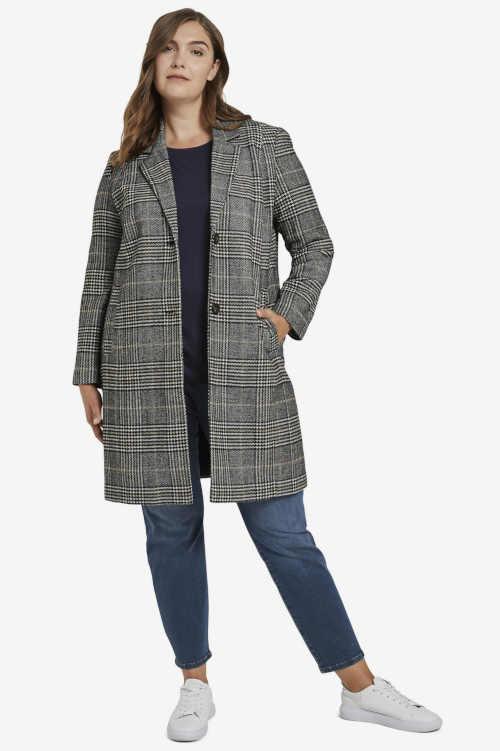 Elegantný čierno-šedý dizajn kabátu