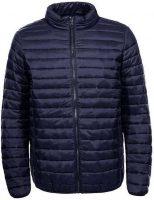 Pánska krátka prešívaná bunda v tmavomodrej farbe