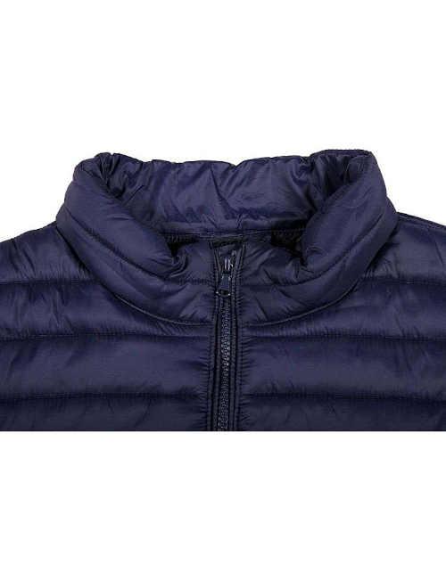 Pánska zimná bunda modrá prešívaná