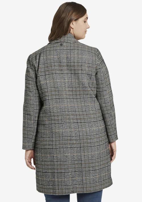 Veľkosť kockovaného kabáta plus